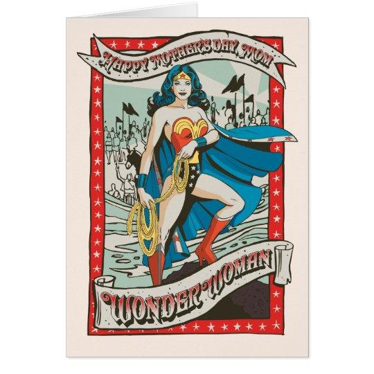 Der glückliche Tag der Mutter der Wunder-Frauen-|, Grußkarte