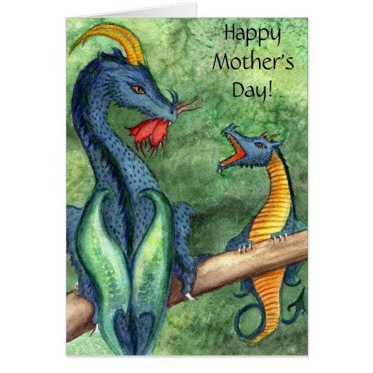 Der glückliche Tag der Mutter! Karte