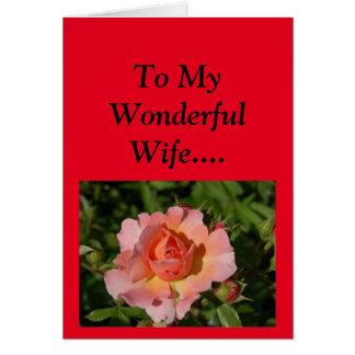 Der glückliche Tag der Mutter zu meiner Ehefrau! Karte