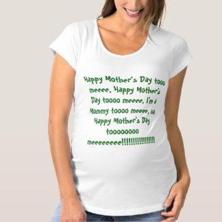 Der glückliche Tag der Mutter zu Schwangerschafts T-Shirt