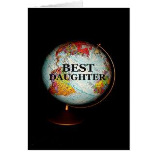 Der glückliche Tag der Mutter zur besten Tochter Karte