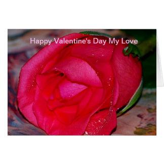 Der glückliche Tag des Valentines meine Liebe Karte