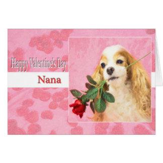 Der glückliche Tag des Valentines Nana mit Hund Karte