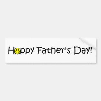 Der glückliche Vatertag! Autoaufkleber