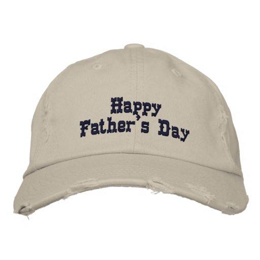 Der glückliche Vatertag Besticktes Cap