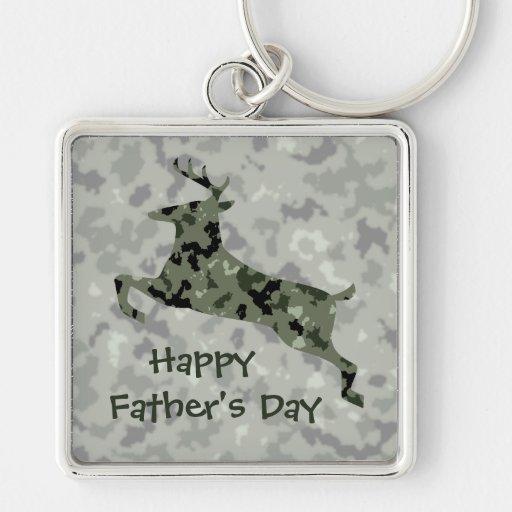 Der glückliche Vatertag: Camouflage-Rotwild Schlüsselbänder
