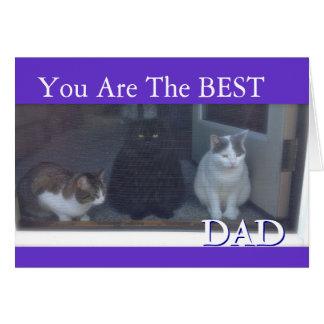 Der glückliche Vatertag, der von den Katzen ist Karte