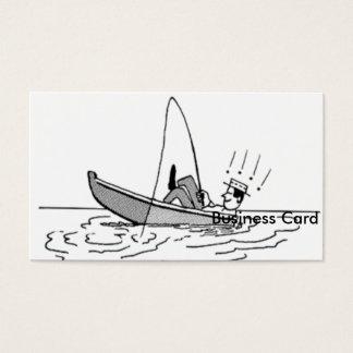 Der glückliche Vatertag - Fischerboot Visitenkarten