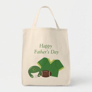Der glückliche Vatertag (Fußball - Grün) Tragetaschen