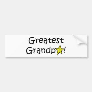 Der glückliche Vatertag, Großvater! Autoaufkleber