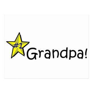 Der glückliche Vatertag, Großvater! Postkarte