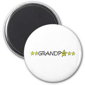 Der glückliche Vatertag, Großvater! Runder Magnet 5,1 Cm