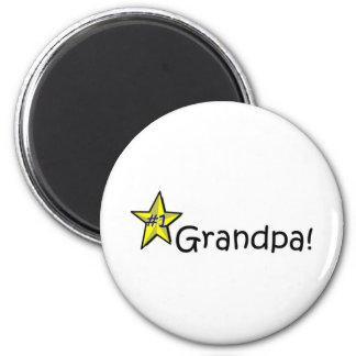 Der glückliche Vatertag, Großvater! Runder Magnet 5,7 Cm