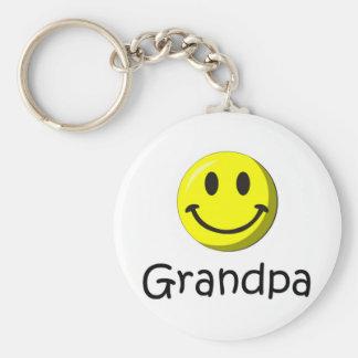 Der glückliche Vatertag, Großvater! Standard Runder Schlüsselanhänger