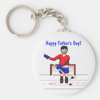 Der glückliche Vatertag Hockey- Standard Runder Schlüsselanhänger