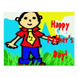 """Der glückliche Vatertag """"in der Zeichenstift-"""" Pos Postkarten"""