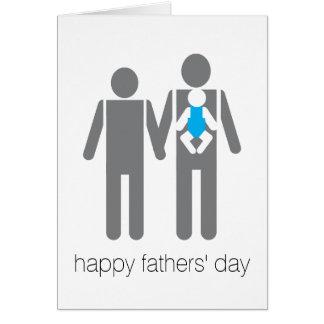 Der glückliche Vatertag!! Grußkarte