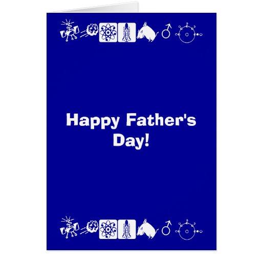 Der glückliche Vatertag! Grußkarte