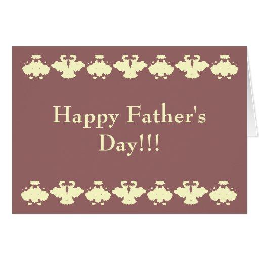 Der glückliche Vatertag!!! Karte