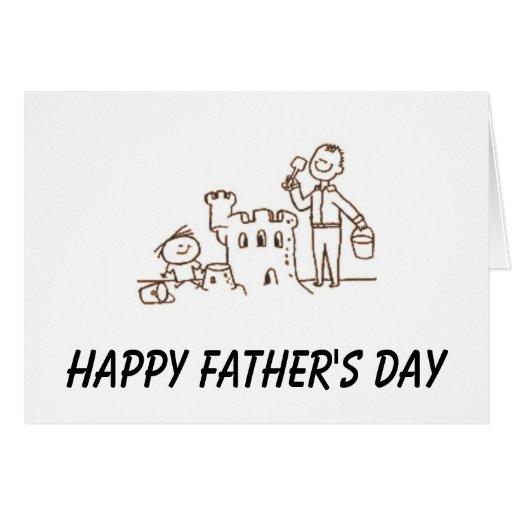 Der glückliche Vatertag Grußkarten
