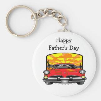Der glückliche Vatertag - Keychain Standard Runder Schlüsselanhänger