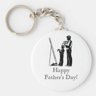 Der glückliche Vatertag! Keychain Standard Runder Schlüsselanhänger