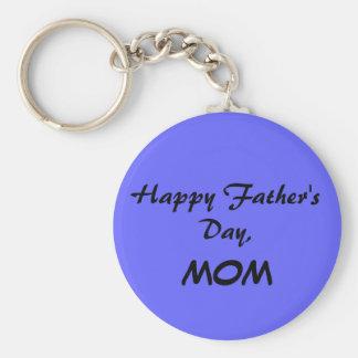 Der glückliche Vatertag, MAMMA Blau Keychain Standard Runder Schlüsselanhänger