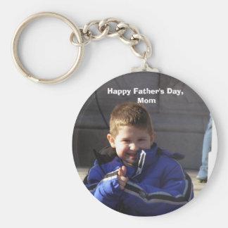 Der glückliche Vatertag, Mamma rundes Keychain Standard Runder Schlüsselanhänger