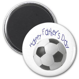 Der glückliche Vatertag mit Fußball-Kunst Magnete