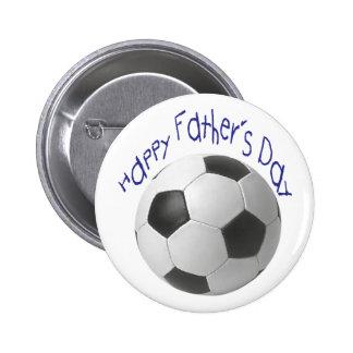 Der glückliche Vatertag mit Fußball-Kunst Runder Button 5,1 Cm