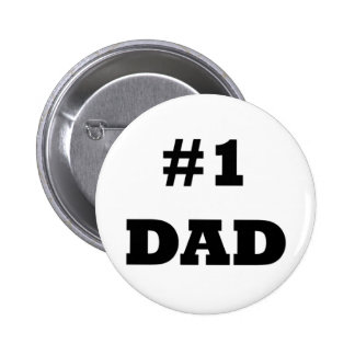 Der glückliche Vatertag - nummerieren Sie 1 Vati - Runder Button 5,1 Cm