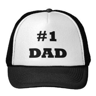 Der glückliche Vatertag - nummerieren Sie 1 Vati - Baseballcaps
