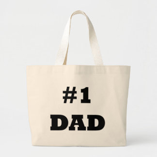 Der glückliche Vatertag - nummerieren Sie 1 Vati - Jumbo Stoffbeutel