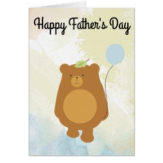 Der glückliche Vatertag - Papa-Bärn-Karte Karte