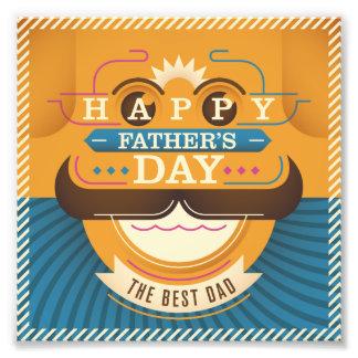 Der glückliche Vatertag Photodruck