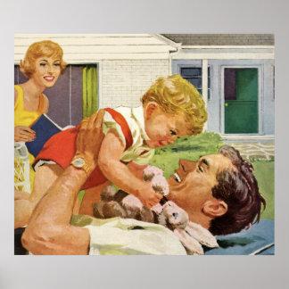 Der glückliche Vatertag Posterdrucke