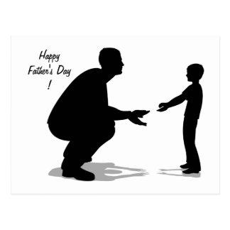 Der glückliche Vatertag! - Postkarte