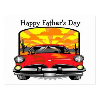 Der glückliche Vatertag - Postkarte