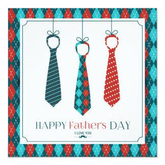 Der glückliche Vatertag Quadratische 13,3 Cm Einladungskarte