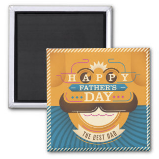 Der glückliche Vatertag Quadratischer Magnet