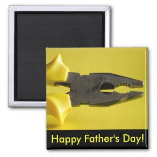Der glückliche Vatertag! Quadratischer Magnet