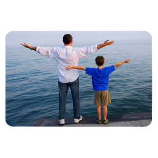 Der glückliche Vatertag! - Rechteckiger Fotomagnet