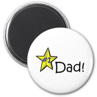 Der glückliche Vatertag! Runder Magnet 5,1 Cm