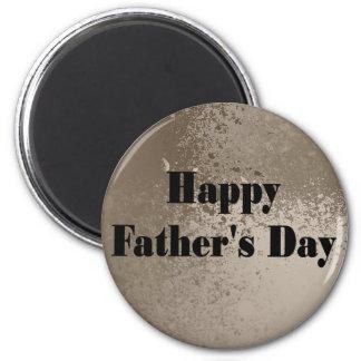Der glückliche Vatertag Runder Magnet 5,7 Cm