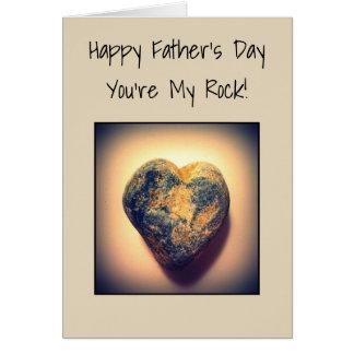 Der glückliche Vatertag, sind Sie mein Felsen Karte