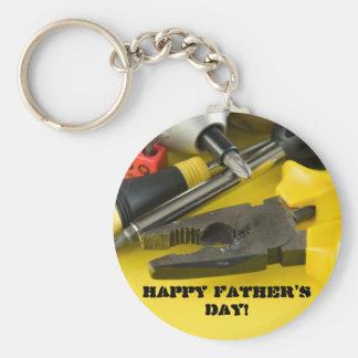 Der glückliche Vatertag! Standard Runder Schlüsselanhänger