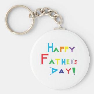 Der glückliche Vatertag Standard Runder Schlüsselanhänger