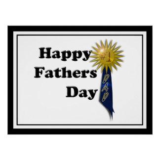 Der glückliche Vatertag - Vati #1 Perfektes Poster