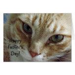 Der glückliche Vatertag von der Katze Grußkarte