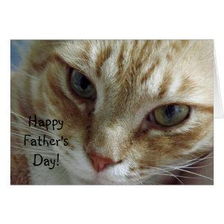 Der glückliche Vatertag von der Katze Karte